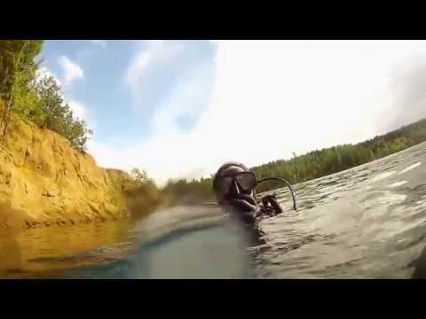 Дайвинг на карьере в Новой Рудне (Житомирская область) / Mining diving. Ukraine