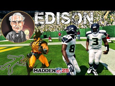 Madden 25 Gameplay - Russell Wilson like Thomas Edison How To Read Option - Madden 25 Demo Gameplay