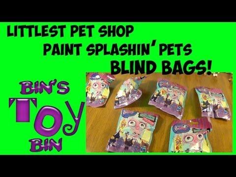 Opening Six Cute Littlest Pet Shop Paint Splashin Pets