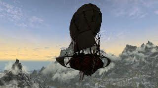 SKYRIM Обзор модов №25 | Летающий дирижабль «Dev Aveza»