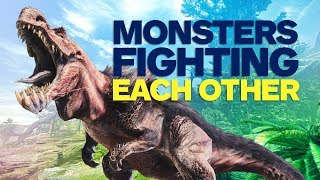 Monsters Fighting Each Other in Monster Hunter World Gameplay (4K)
