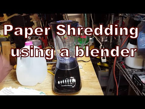7. Paper Shredding using a blender