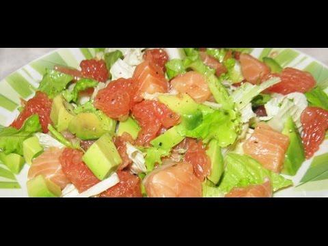 Салат с слабосоленой семгой