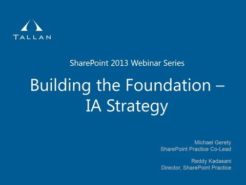 Building the Foundation   Information Architecture Strategy