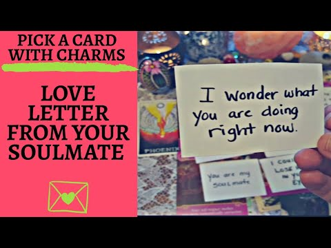 ✉💖LOVE LETTER FROM YOUR SOULMATE💖✉|🔮CHARM PICK A CARD🔮