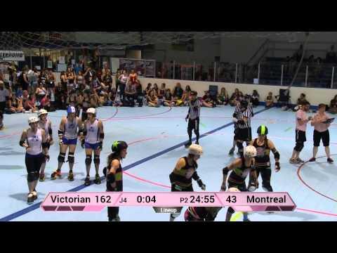 WFTDA Roller Derby: Montreal Roller Derby vs Victorian Roller Derby League - ECDX 2014