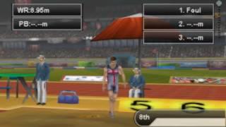International Athletics PSP Gameplay