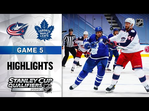 NHL Highlights | Blue Jackets @ Maple Leafs GM5 - Aug. 9, 2020