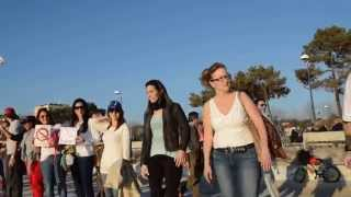 CADENA HUMANA, SOS VENEZUELA PLAYA DE SAMIL, VIGO ESPAÑA