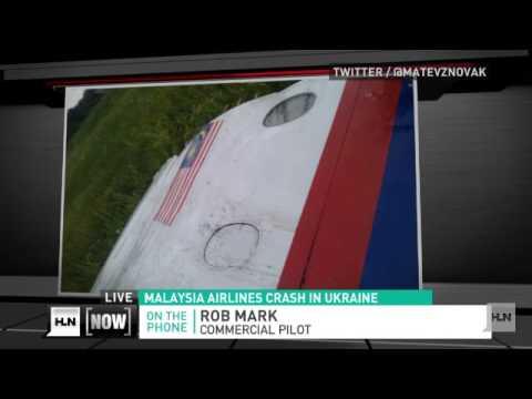 First pictures & video of Ukraine plane crash