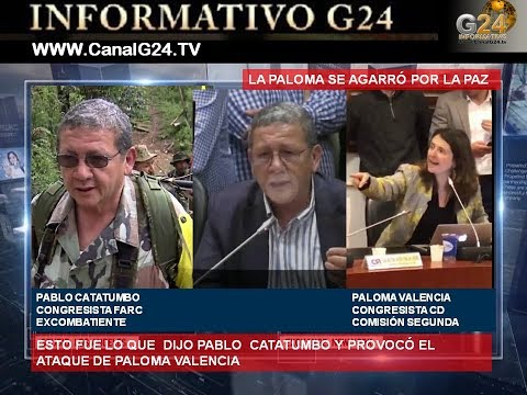 G24- COLOMBIA ¿POR QUÉ  PALOMA LLAMÓ A PABLO CATACUMBO NARCOTERRORISTA?