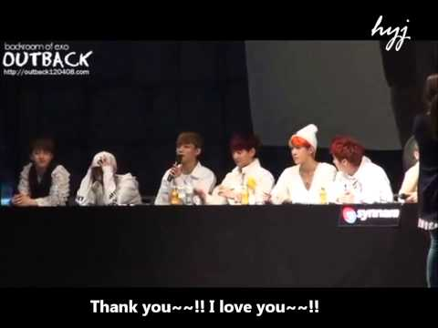 [eng sub] EXO CHEN - Kim Jongdae cute moments in front of fans