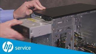 How to Replace the Optical Drive   HP Pavilion 500-200 Desktop PCs