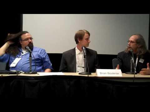 Panelists on proprietary vs. open source software
