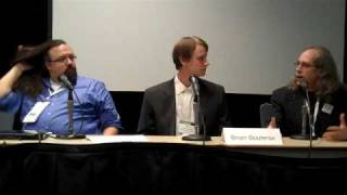 Panelists on proprietary vs. open source software