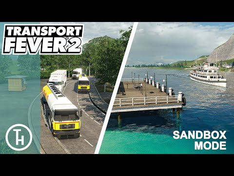 Truck Stop Layby and Boats - Transport Fever 2 - The Big Build Sandbox |