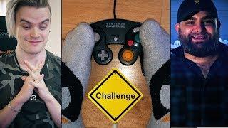 CHALLENGE: Mit den FÜSSEN spielen! (ft. Cengiz)