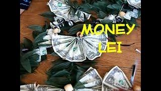 Money Lei 🌿🌿 Dollar Flat Rope & Fan DIY 🌿