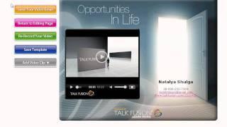 Cоздание видео-визитки Talk Fusion (урок 1) - www.tf-vipmlmteam.com