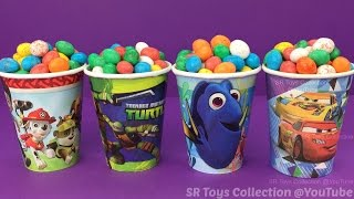 candy surprise cups justice league mashems disney frozen inside out toys lego minifigures blind bag