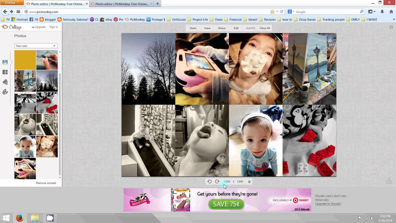 How to create a photo collage for Project Life layout (PicMonkey tutorial)  - YouTube 2a5073c292