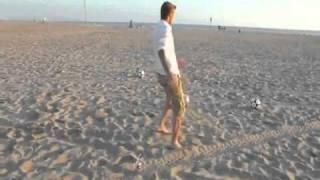 David Beckham free kicks on the beach unbelievable