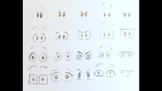 How to Draw Cartoon Faces Part 2: Eyes! | Beginner Level