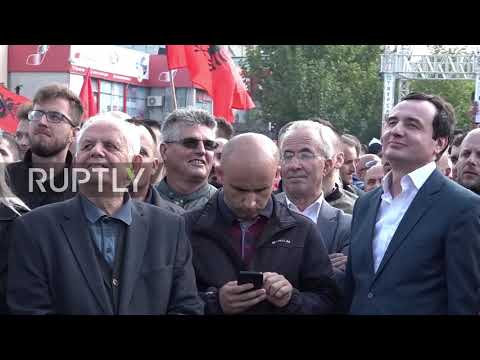 Serbia: Thousands protest in Pristina over possible land swap