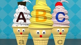 Learn ABC's with Alphabet Ice Cream Cones - Letters A to Z Lesson
