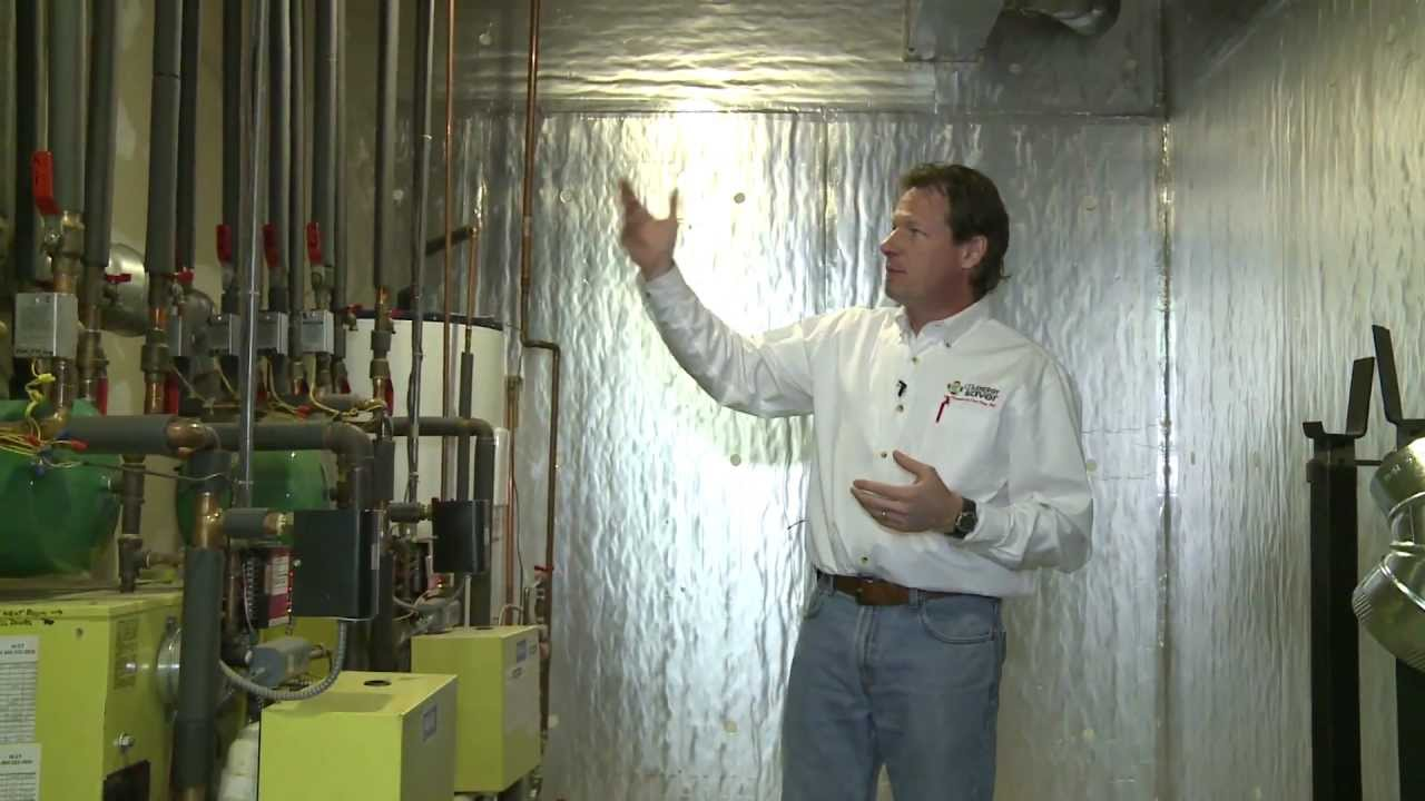 Insulating The Pipes And Walls Of A Boiler Room Youtube