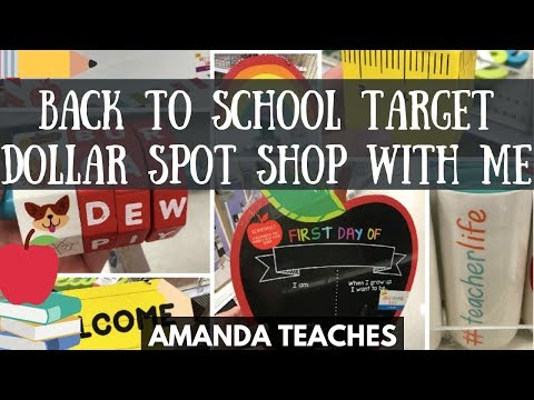 Target Teacher Back to School Dollar Spot Bullseye Shop With