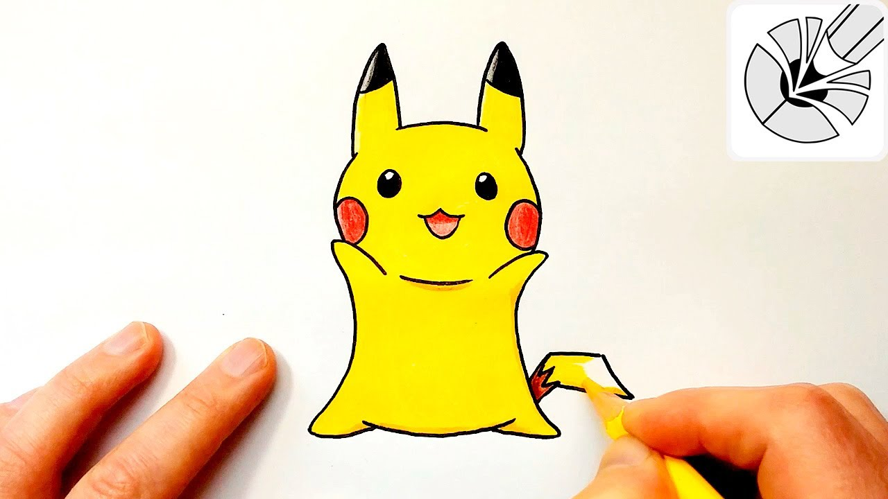 how to draw a cute pikachu step by step drawing and coloring