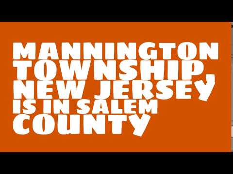 What county is Mannington Township, New Jersey in?