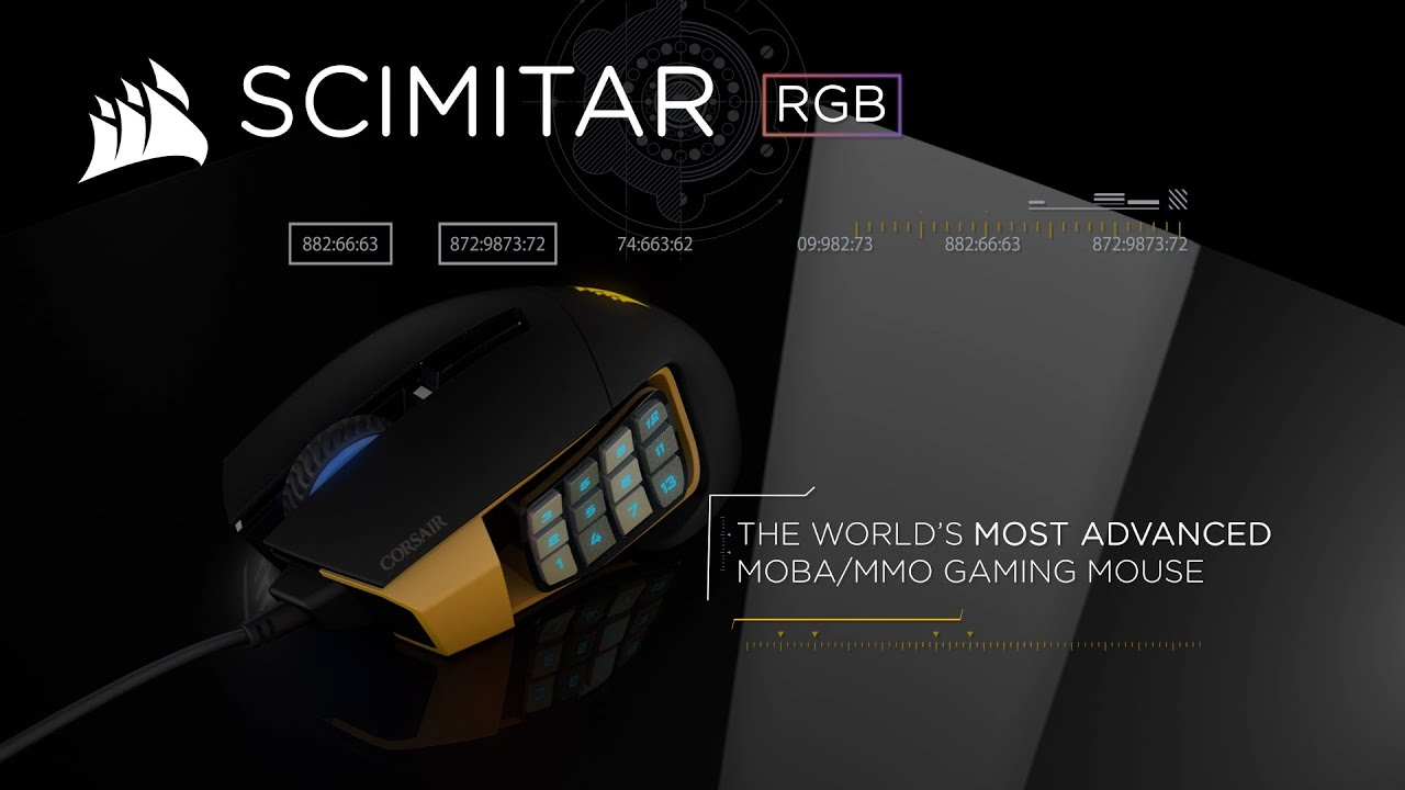 scimitar rgb optical moba/mmo gaming mouse