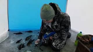 Зимняя рыбалка на озере Сосновское в Свердловской области.