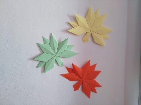 DIY Origami Crafts - Home Decor - How to Make Origami Fall Leaves + Tutorial !