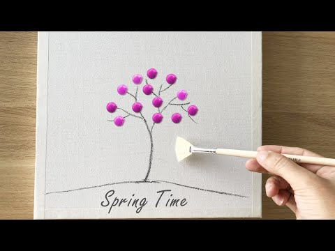 daily-challenge-#45-/-acrylic-/-spring-painting