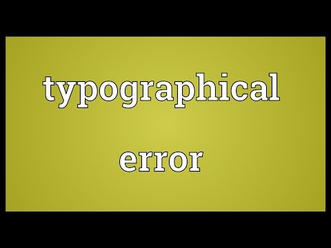 Typographical error Meaning