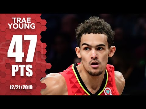 Trae Young drops 47 on Nets in front of Kobe Bryant   2019-20 NBA Highlights