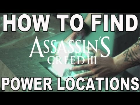 Assassin's Creed 3: How To Find Power Plug Location Spots (Pedestals tutorial) All 3