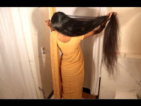 Hairstyles For Long Hair On Saree : Hairstyle for saree youtube