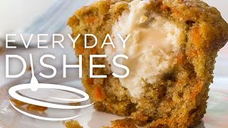 Inside-out Carrot Cake Muffins