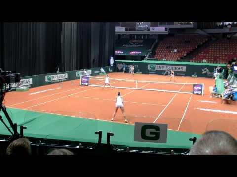 Valeria Solovyeva gets lucky - Unique drop shot in doubles