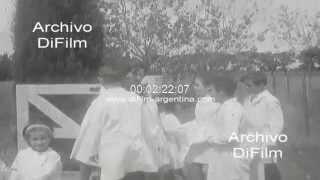 DiFilm - Inicio de clases en una escuela rural de Buenos Aires 1966