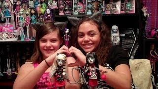 Monster High Werecat Sisters Pack Meowlody and Purrsephone Doll Review By WookieWarrior23
