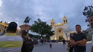 Atardecer En El Centro de San Salvador EL SALVADOR.