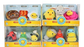Hallmark Happy Go Luckys Series 1 Unboxing Review Bug Buddies, Breakfast Buds, Work Zone, Springtime