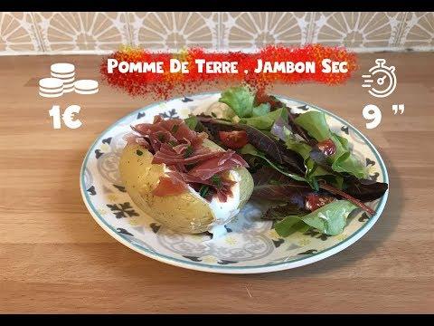 seb'on-#4-pomme-de-terre-au-jambon-sec-au-micro-ondes---recette-facile-express