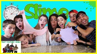 Speed Slime Making Challenge Ft. The Skory's / That YouTub3 Family