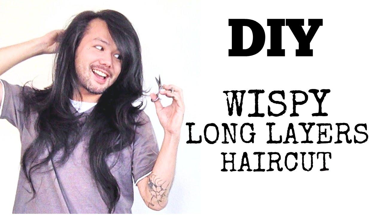DIY  WISPY LONG LAYERS  HAIRCUT  YouTube